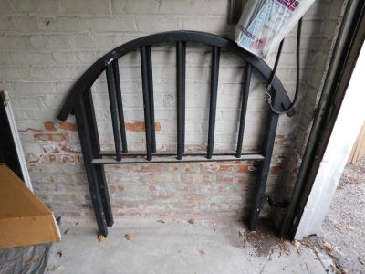 OLD Vintage Metal, Steel, Iron Twin Bed HEAD &FOOTBOARD. Art Deco
