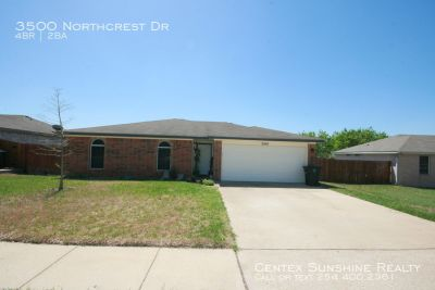 3500 Northcrest Drive 4BR 2Ba For Lease