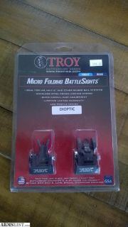 For Sale: Troy Folding Battle Sights / As New