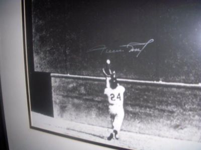 Willie Mays Framed Signed Photo of The Catch