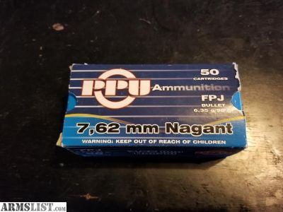 For Sale: 7.62 mm Nagant ammo