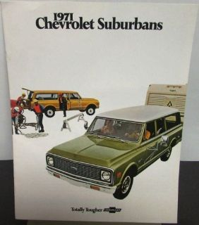 Find Original 1971 Chevrolet Truck Dealer Sales Brochure Suburban motorcycle in Holts Summit, Missouri, United States, for US $17.71