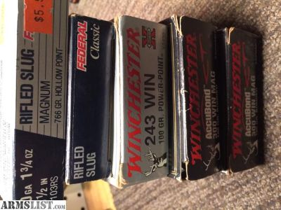 For Sale: Misc ammo - .300 winmag, .243, 10ga