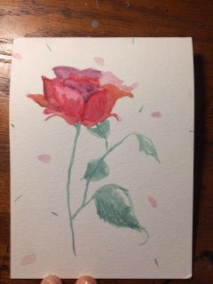 Hand painted special occasion cards with hand made envelopes