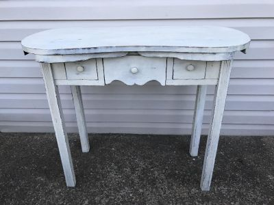 Entry Table Rustic White
