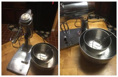 Stainless Steel Sunbeam Mixer and Accessories
