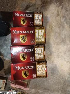 For Sale: Monarch 357 mag 158 grain