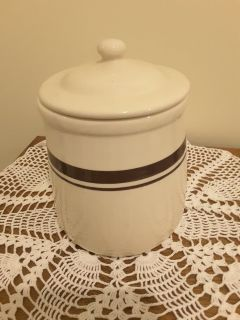 It's a McCoy Pottery Collectible Crock Cookie Jar