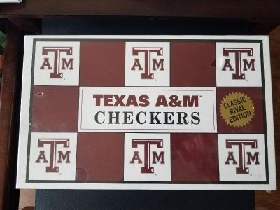 Texas A&M vs. University of Texas Checkers Set Vintage and never been opened!