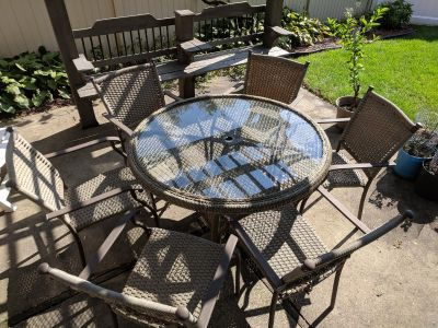 Patio Table Set w/ 6 Chairs