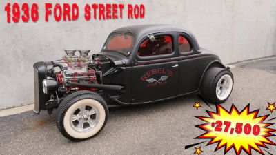 36 FORD 5 WINDOW COUPE ALL STEEL