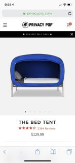 Privacy Pop Bed Tent- Twin