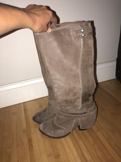 Fergie leather boots