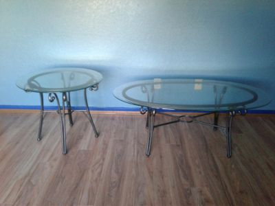Nice coffee table & end table ~ $50