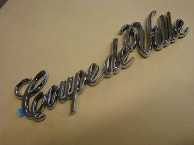 Purchase NOS Cadillac Coupe Deville Nameplate Emblem 84 85 86 87 88 89 90 91 92 93 CHROME motorcycle in Hustisford, Wisconsin, US, for US $18.99