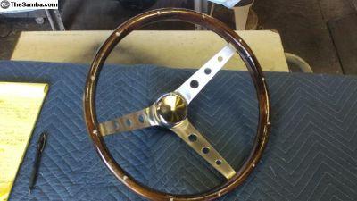"""Vintage NOS Grant 15"""" Wooden Steering Wheel"""