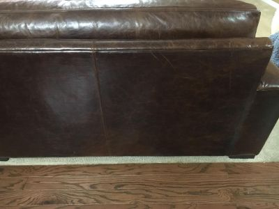 Restoration Hardware maxwell leather couch
