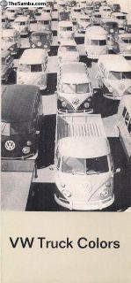 1964 Bus Truck Color Chart Sales Brochure
