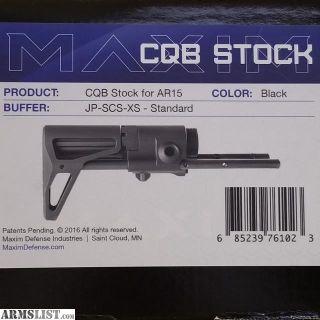 For Sale: Maxim CQB rifle stock