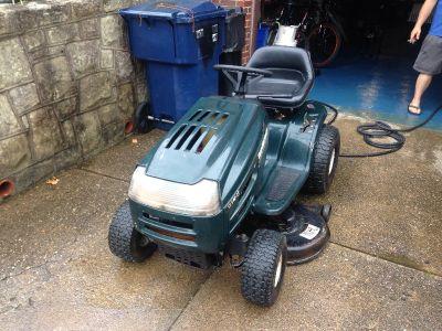 "17.5hp yard machine riding mower 42"" cut"
