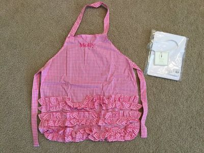 Pottery Barn Kids gingham apron