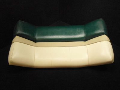Purchase PONTOON BENCH SEAT TOP BACK GREEN/BEIGE/WHITE WITH GOLD TRIM CUSHION C-LO 24 motorcycle in Gulfport, Mississippi, US, for US $67.20