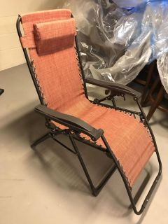 Two patio recliner chairs