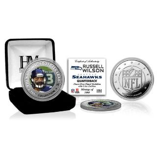 RUSSELL WILSON Highland Mint (Colored) Silver Coin with C.O.A. *** NEW ***