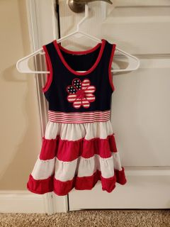 Navy blue, white and red dress size 5
