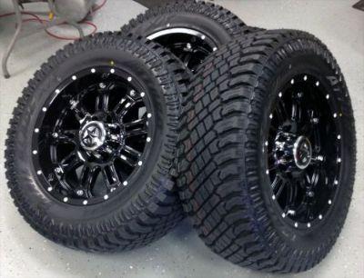 "Purchase 20"" Black Lonestar Ambush Wheels 33"" Inch Tires 20x9 8x170 -10 Ford F250 F350 motorcycle in Katy, Texas, United States"