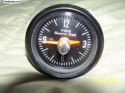 Vdo 52mm Cocpit Black Quartz Clock