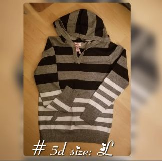 New Woman's Hooded Pullover size L