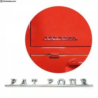 VW Fat Four Script Emblem Badge for Volkswagen