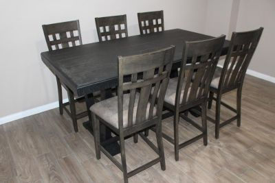 Holland House Furniture Counter Table NEW! NEW! 6 Chairs
