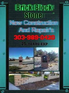 Brick Block and Stone ,  Bricklayer New Construction & Repairs