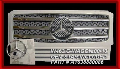 Purchase MERCEDES BENZ G-WAGON GRILLE WHITE W/CHROME G500 G55 2010 STYLE 3 BARS W463 G63 motorcycle in North Hollywood, California, US, for US $215.00