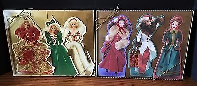 Lot of 2 Hallmark Holiday Barbie Collection Displayable Greeting Cards 1995 & 1996