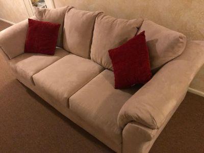 Ashley furniture sofa with throw pillows