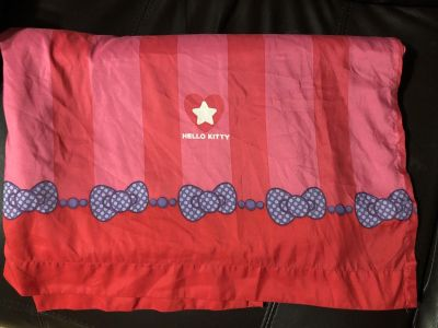 Bright Hello Kitty Bows Twin Flat Bed Sheer. Nice Condition.