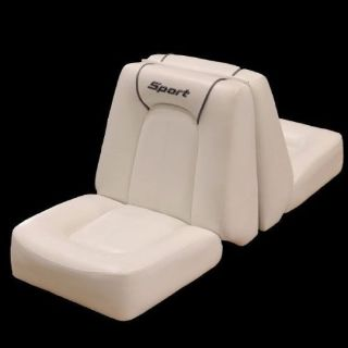 Purchase Sea Ray 175 Off White Back to Back Marine Boat Lounge Seat w/ Sport Logo STC-08 motorcycle in Hales Corners, Wisconsin, United States, for US $210.95