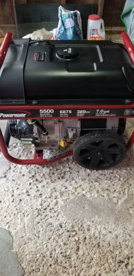 Like New Powermate Generator 3.5 hrs Runtime