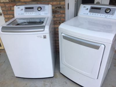 LG he washer and dryer.