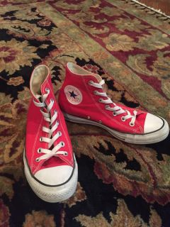 Red Converse Chuck Taylor s Women s size 7.