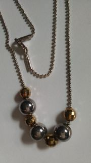 Silver 925 Milor Italy 18 Ball Bead Necklace with Disco Beads