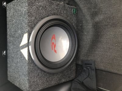 Rockford phosgate punch 325.1 amp with alpine type R 12 sub and box