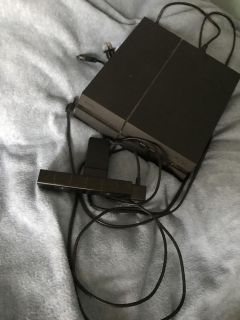 PS4 with camera games and 2 controllers