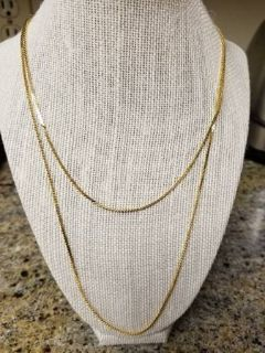 New dual chain gold plated necklace