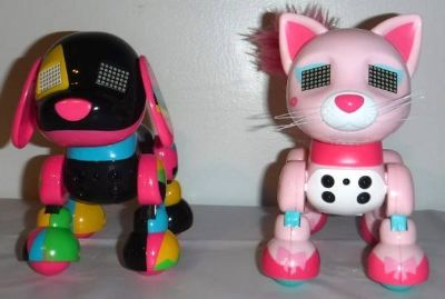 Like New! Zoomer Interactive Robot Dog + Cat by Spin Master