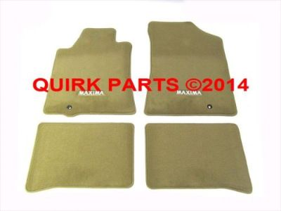 Find 2009-2014 Nissan Maxima Beige Front & Rear Carpet Floor Mat 4 Piece Set OEM NEW motorcycle in Braintree, Massachusetts, United States, for US $101.25