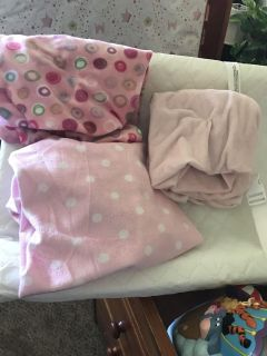 3 minky changing table covers. Cross posted
